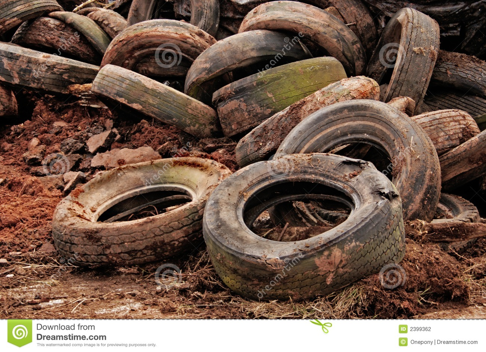 Old Tires Stock Photo Image Of Trash Black Auto Garbage