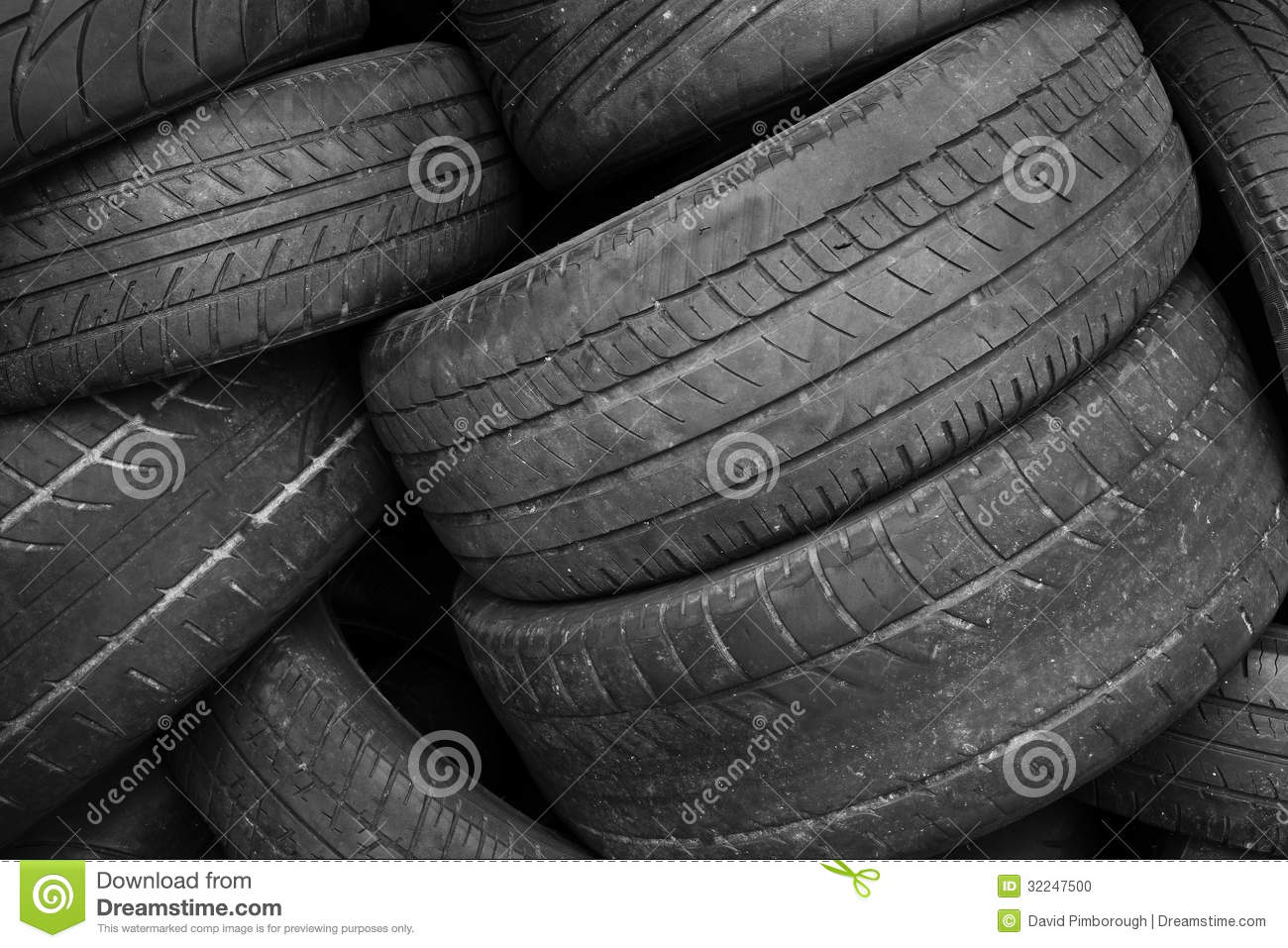 Old tires stock photo image 32247500 for Scrap tractor tires