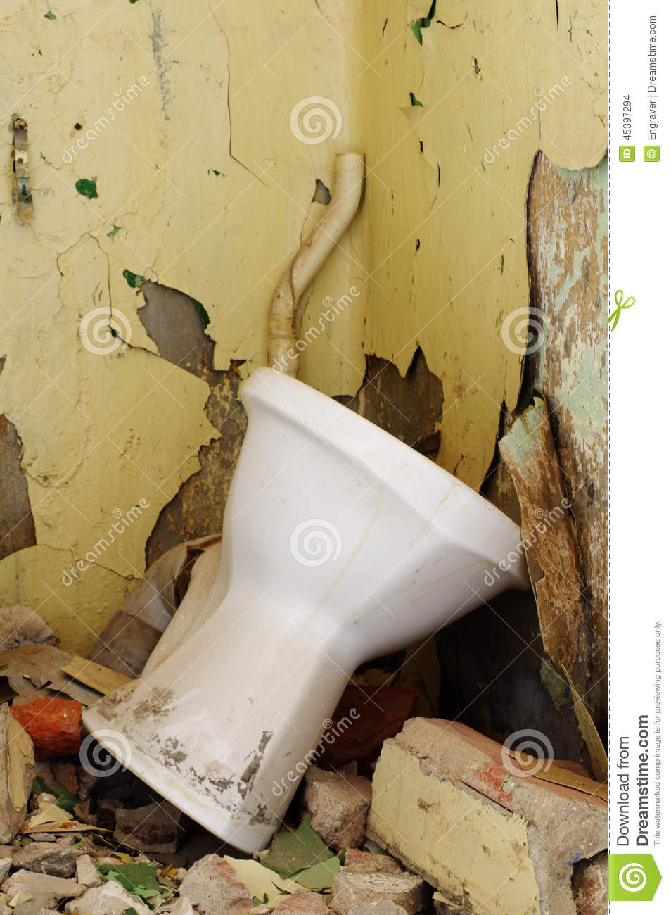 Old Toilet Bowl Stock Photo Image Of Ceramic Water