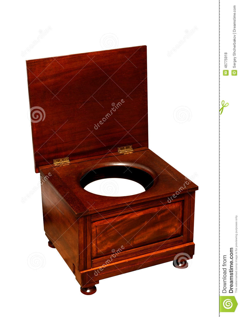 Antique wooden toilet chair - Old Toilet With Chamber Pot An Wooden Chair Stock Photo Image