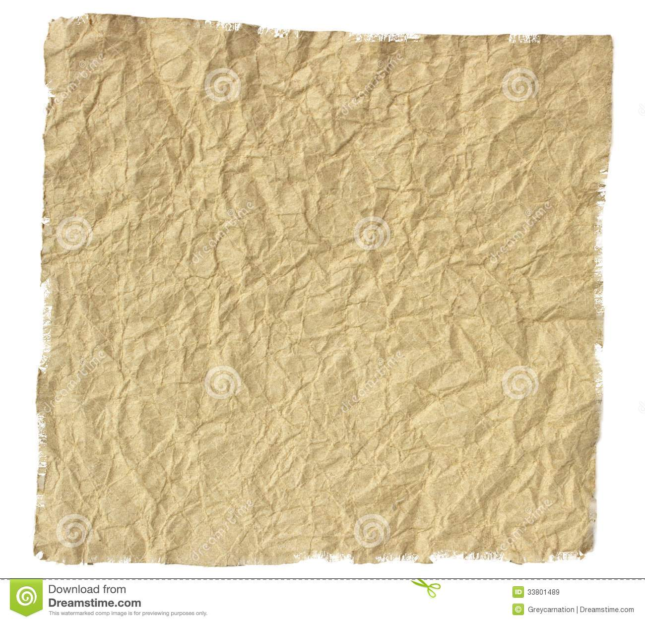 Old torn crumpled paper stock image. Image of crinkly ... White Paper Bag Texture