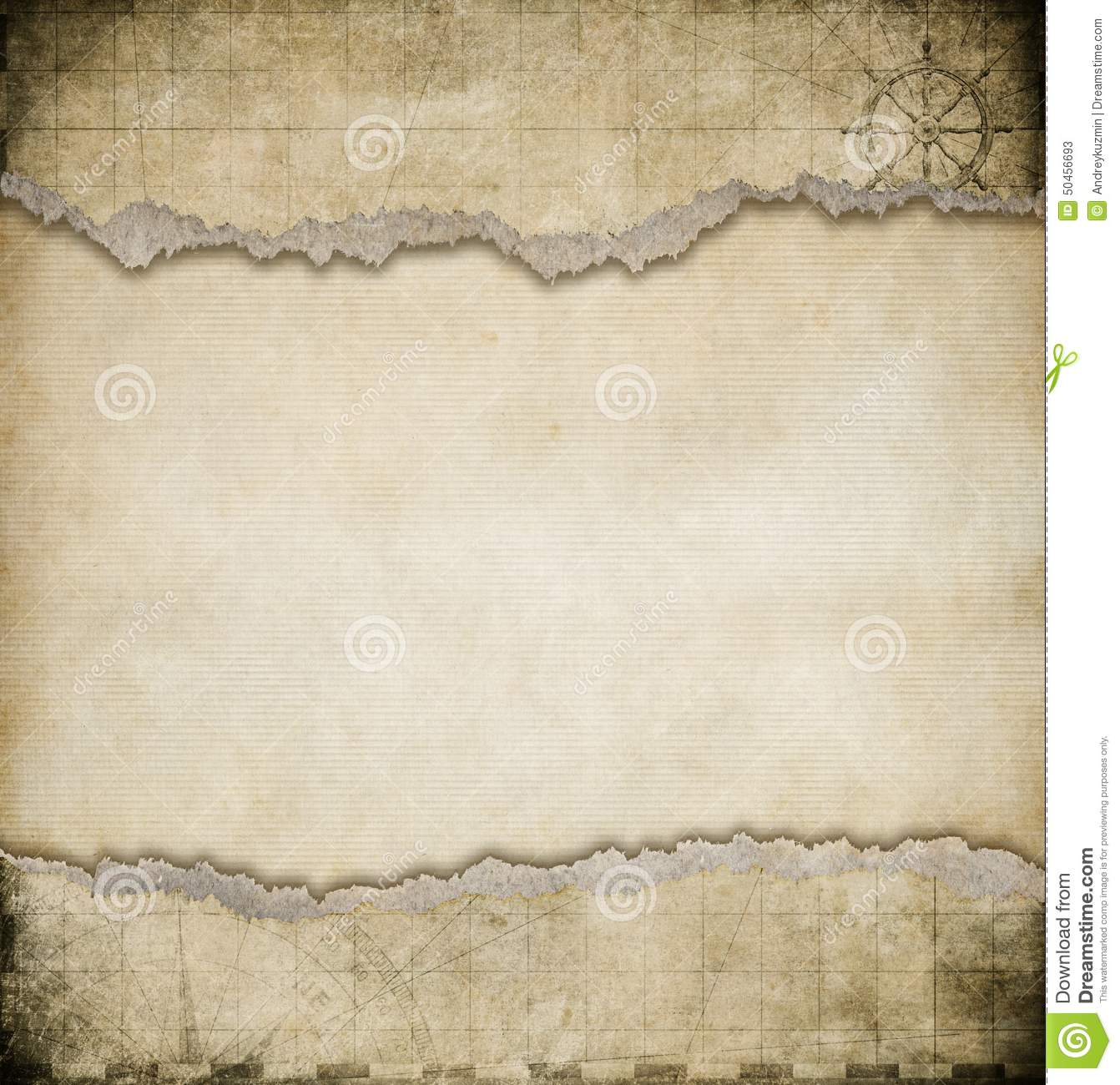 Old torn paper vintage map background stock photo image 50456693