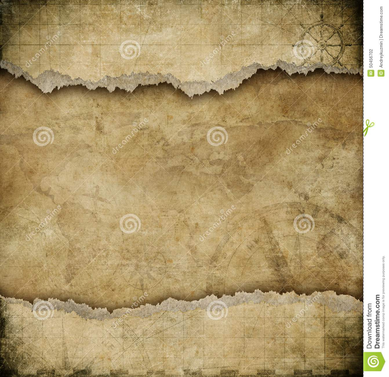 old torn paper vintage map background stock photo image