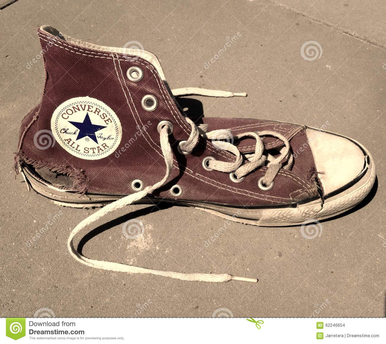9a3af2939c7 Old Torn Vintage Converse All Star Shoe Editorial Stock Image ...