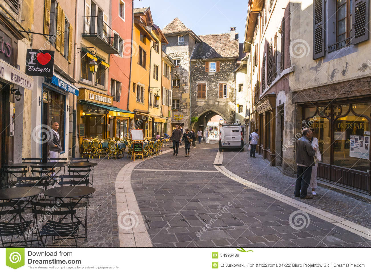 Old town annecy editorial stock image image 34996489 - Boutique free annecy ...