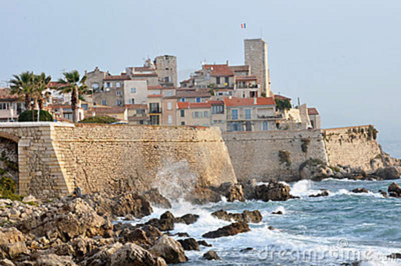 Old Town Of Antibes, Cote D'Azur, France Royalty Free ...