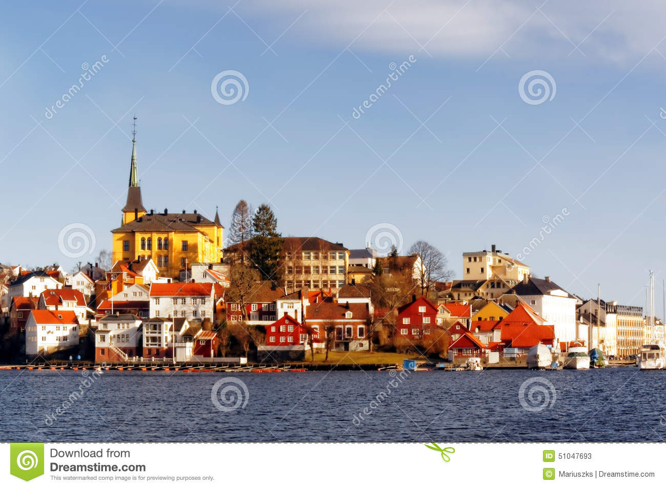 Arendal Norway  City pictures : Old Town Of Arendal, Norway Editorial Stock Photo Image: 51047693