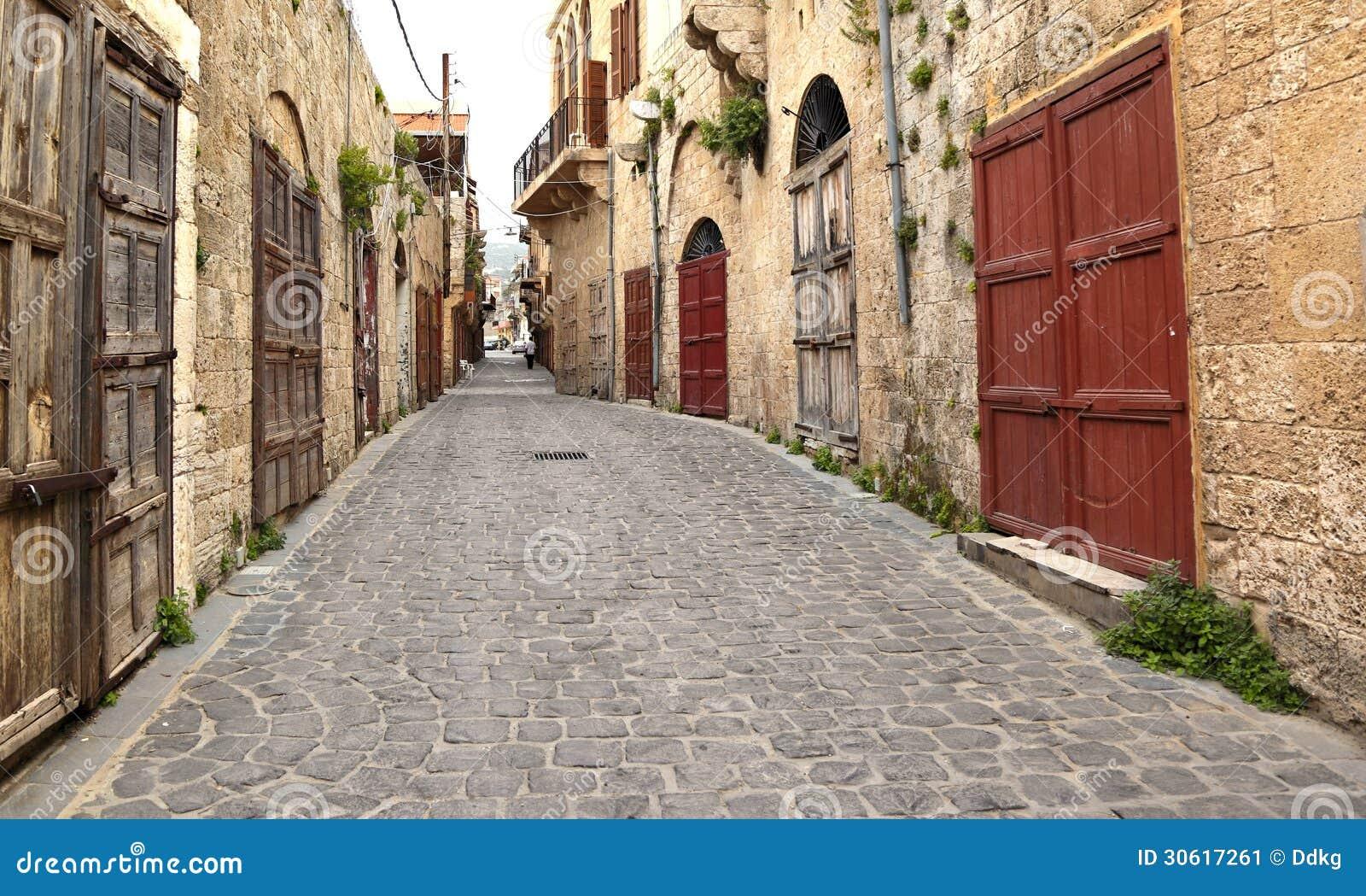 Old Town Batroun Lebanon Stock Image Image 30617261