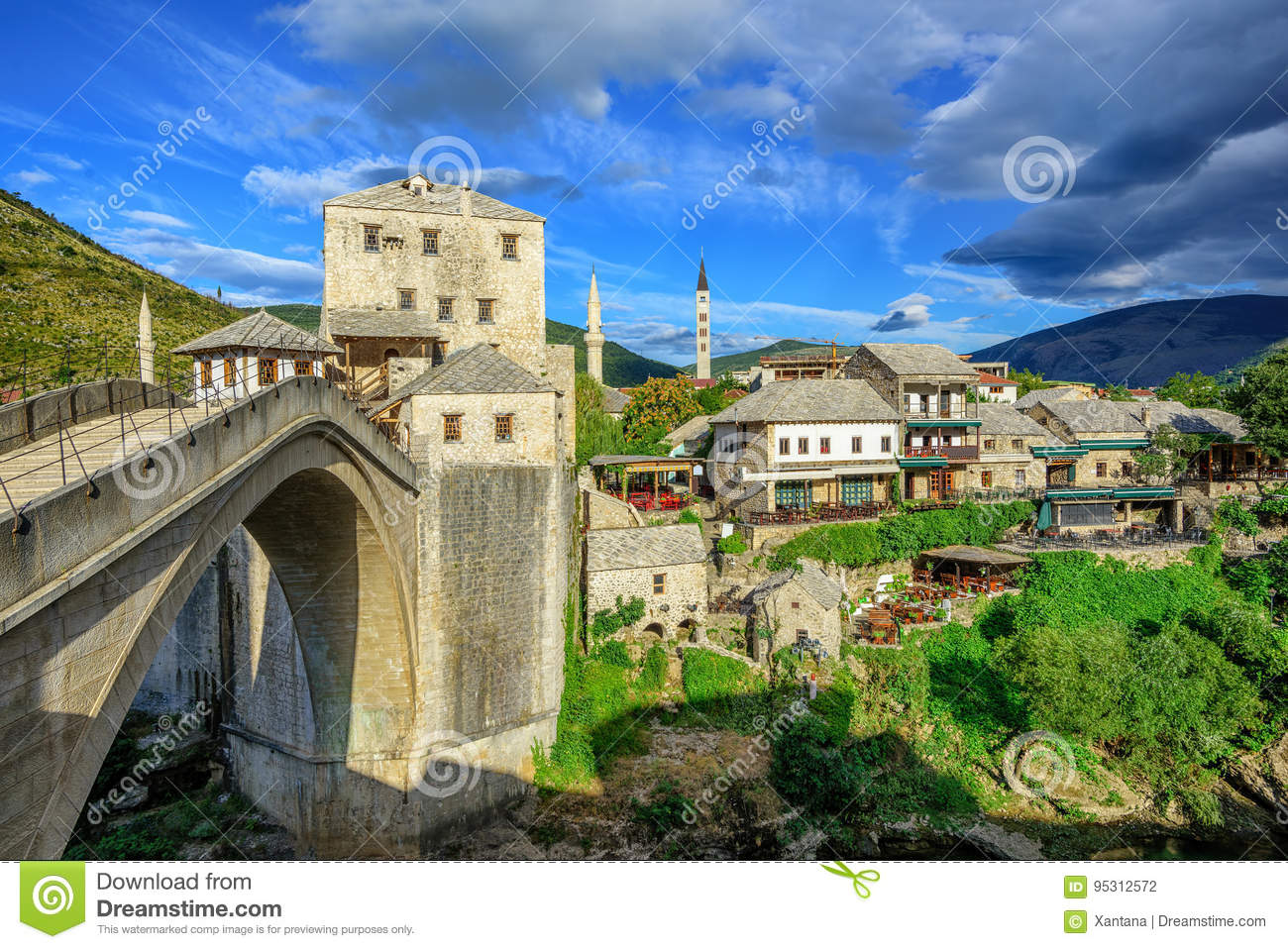 Old town and bridge in Mostar, Bosnia and Herzegovina