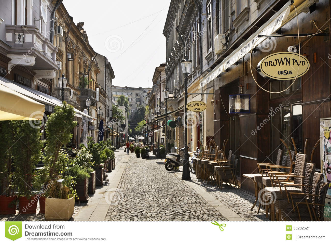 Bucharest Town Editorial Image Image Of Bucharest: Old Town In Bucharest. Romania Editorial Photo