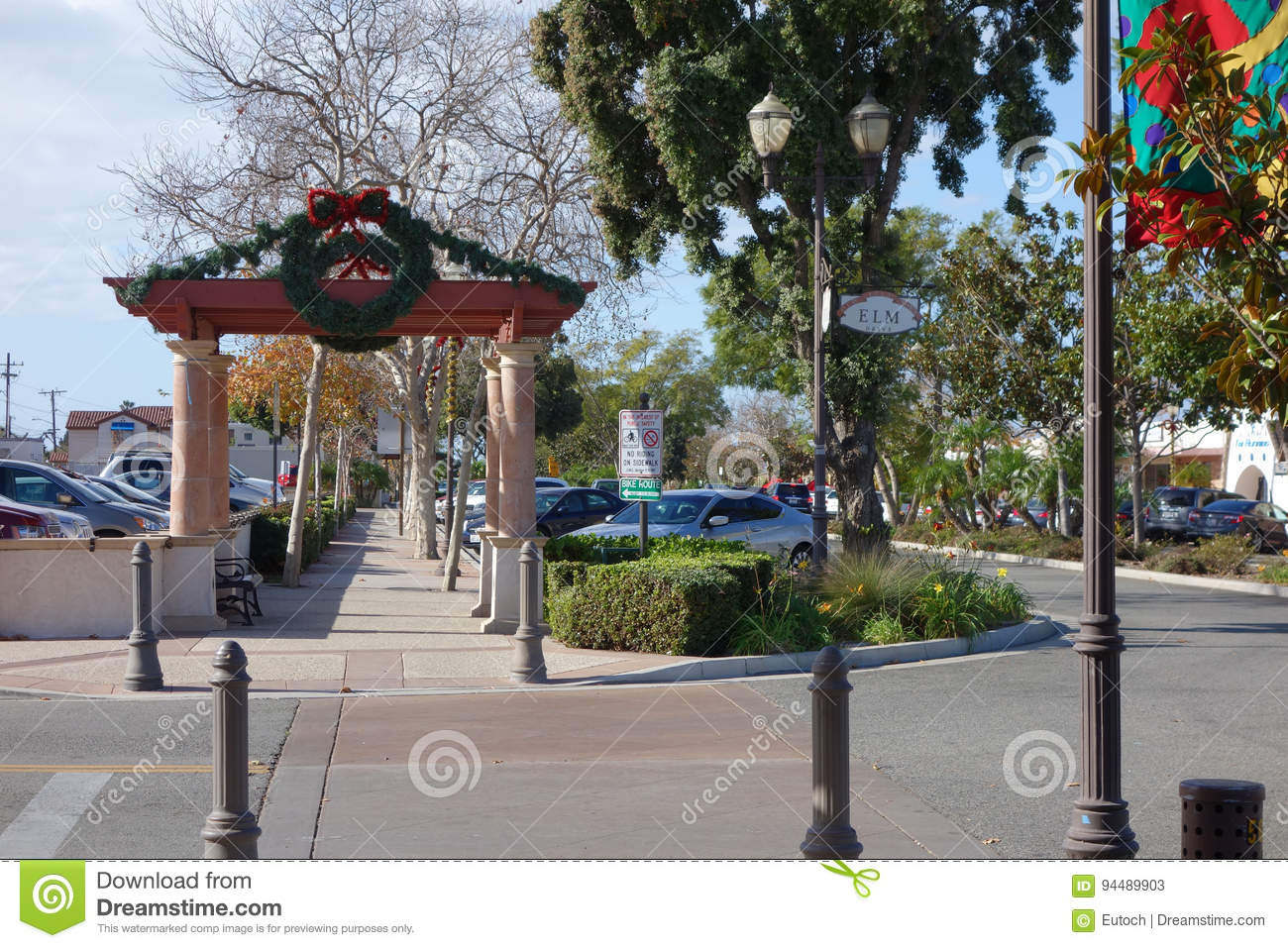 Old Town Elm Street Camarillo Ca Editorial Stock Photo Image Of