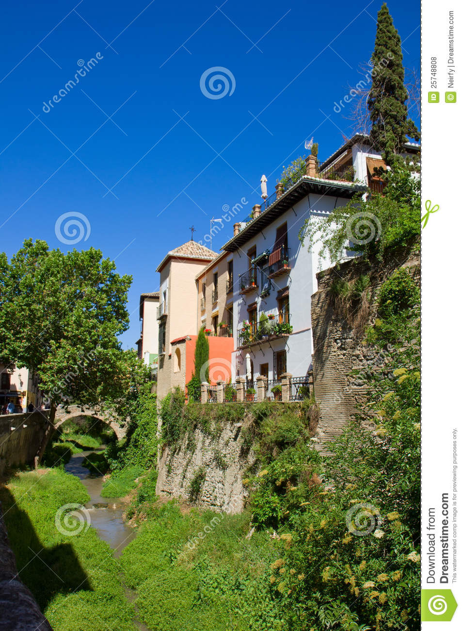 Old Town Of The Granada  Spain Royalty Free Stock Photos
