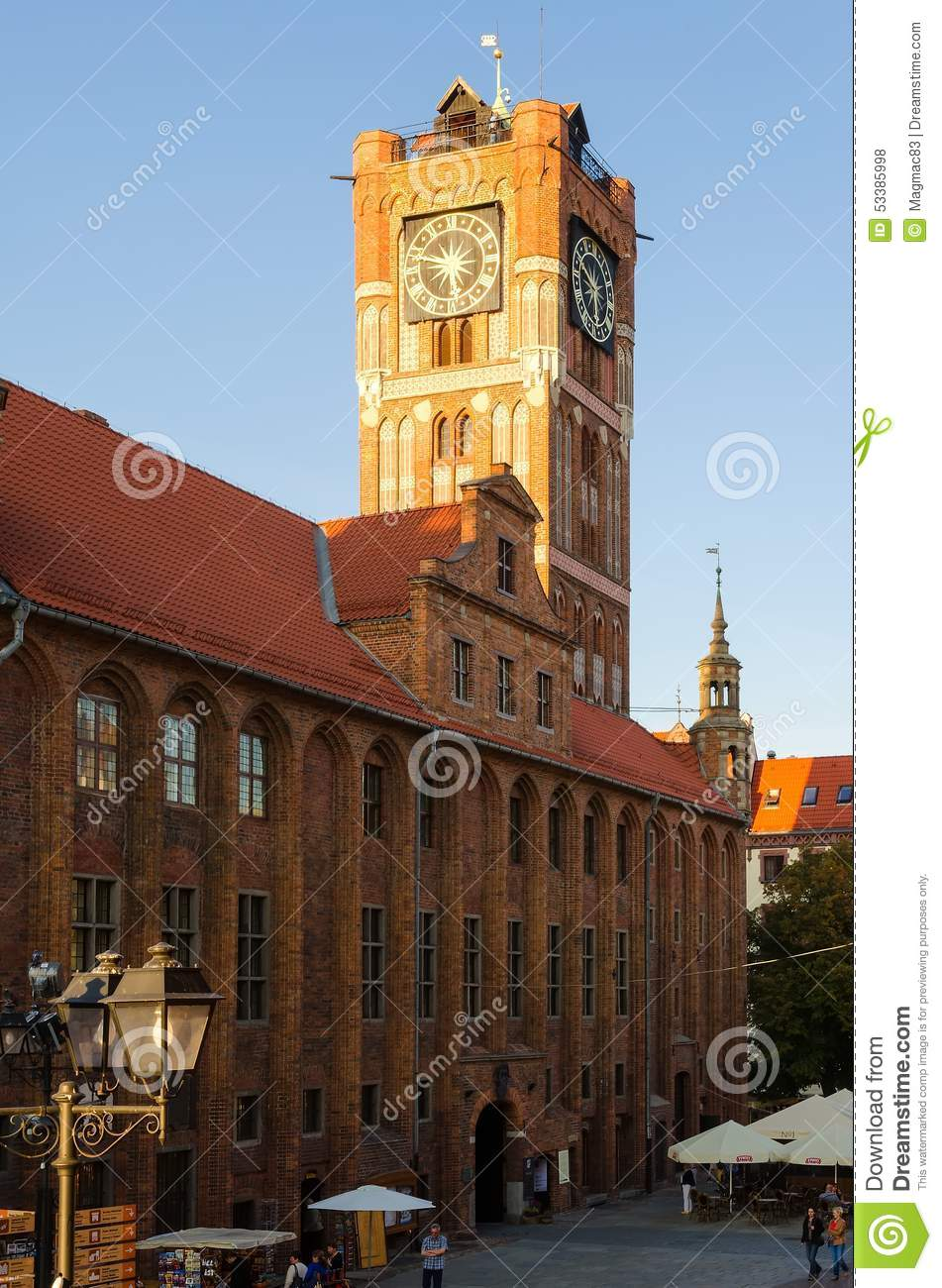 The Old Town Hall in Torun, Poland.