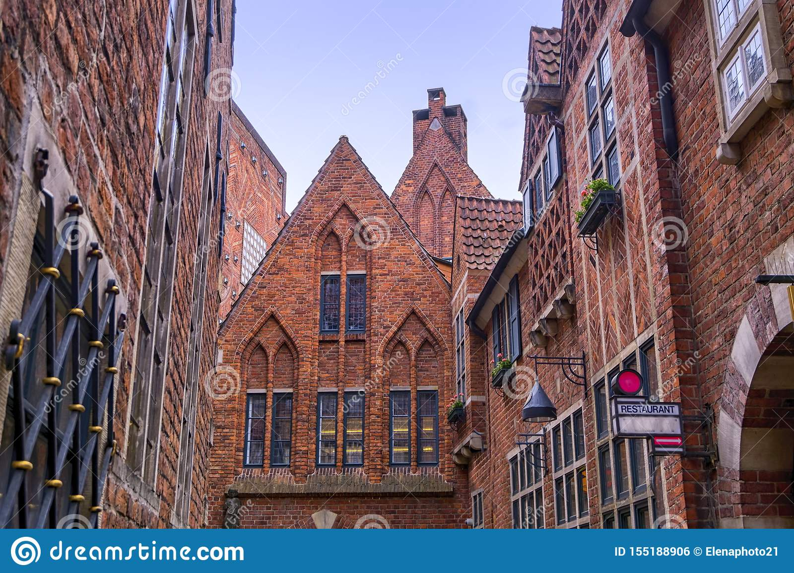 Old town historic buildings in Bremen, Germany
