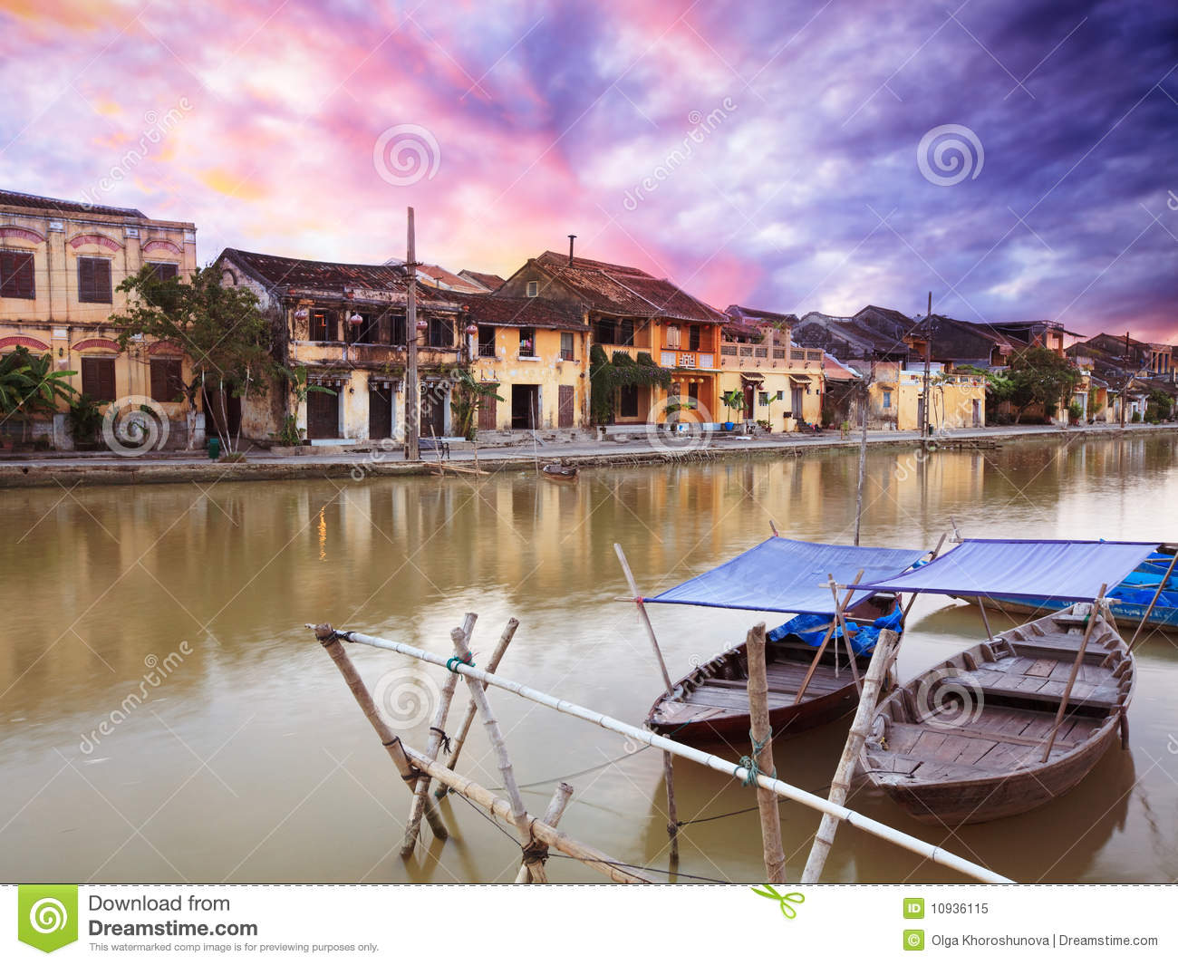 Download Old town of Hoi An stock image. Image of river, unesco - 10936115