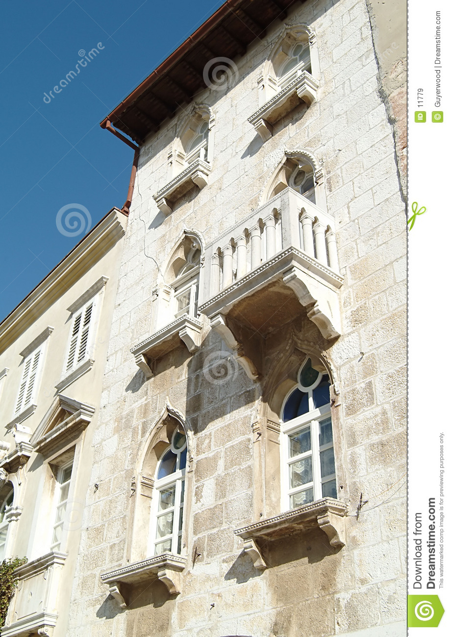 Old town house with balcony, Croatia