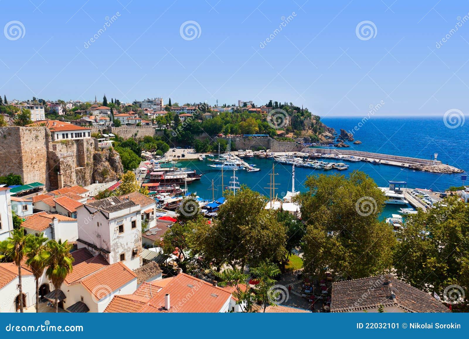 Old Town Kaleici In Antalya, Turkey Stock Image - Image ...