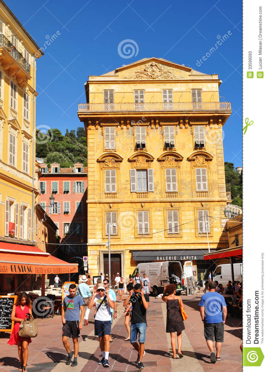 old town of nice france editorial stock photo image 33599093. Black Bedroom Furniture Sets. Home Design Ideas
