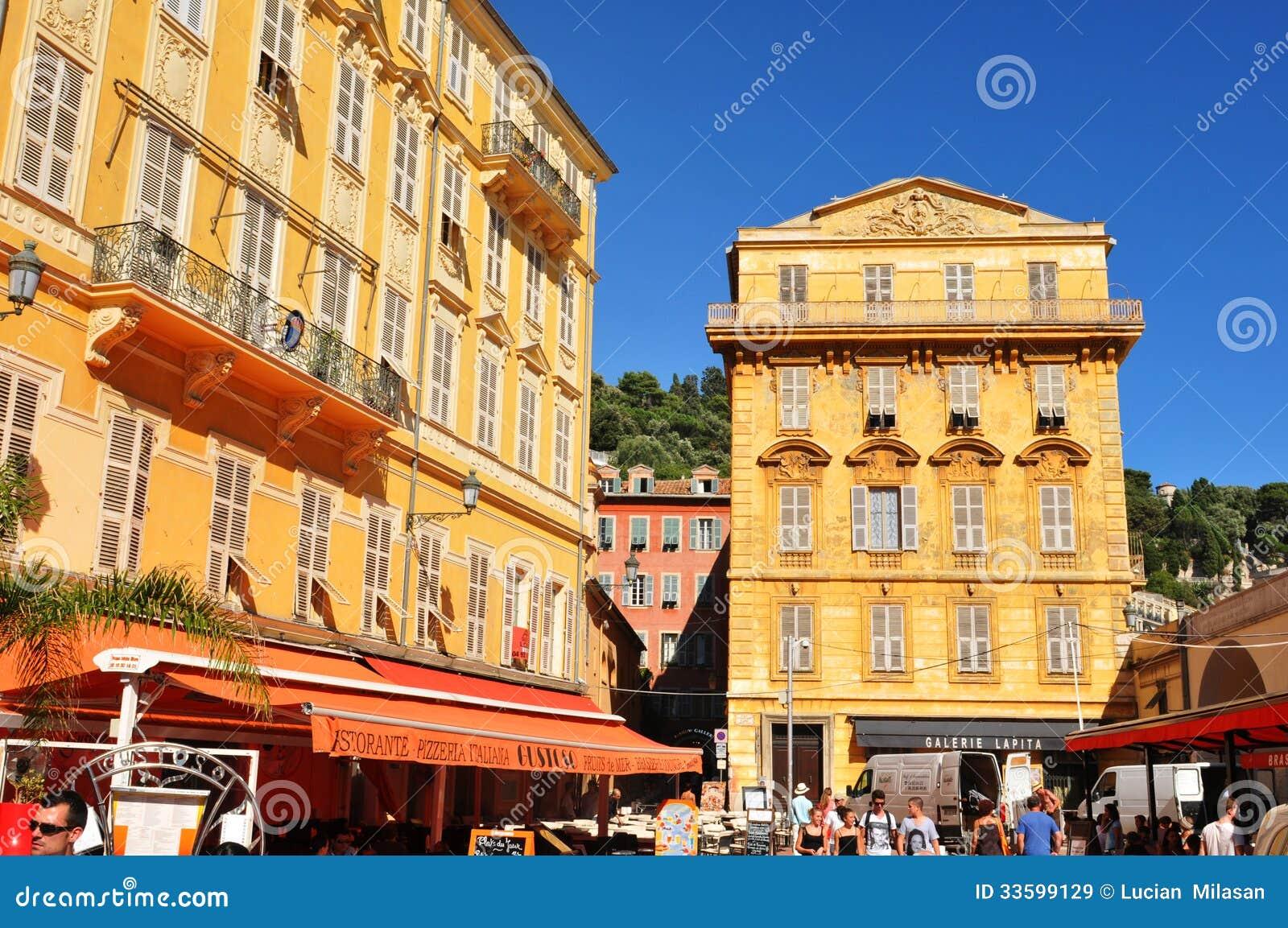 old town of nice france editorial stock image image 33599129. Black Bedroom Furniture Sets. Home Design Ideas
