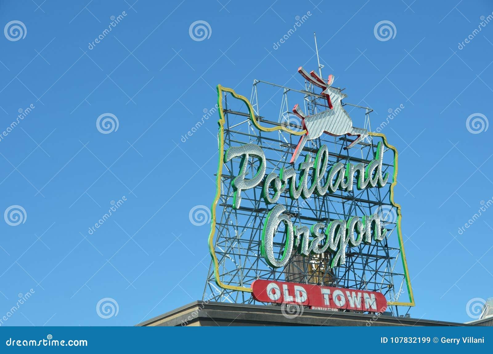 Old Town, Portland, Oregon, Oregon Sign 2