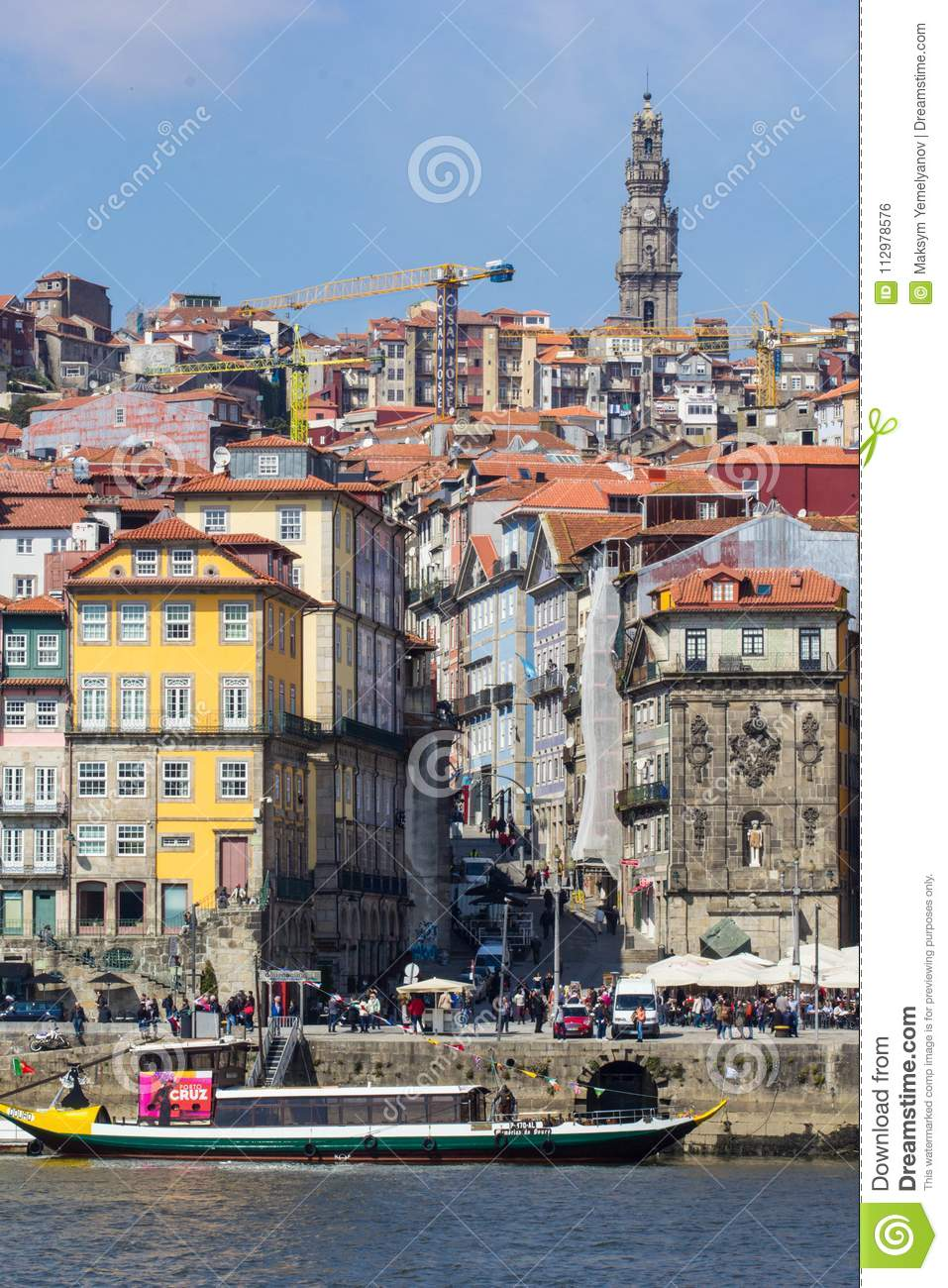 Old town of Porto with river, Portugal