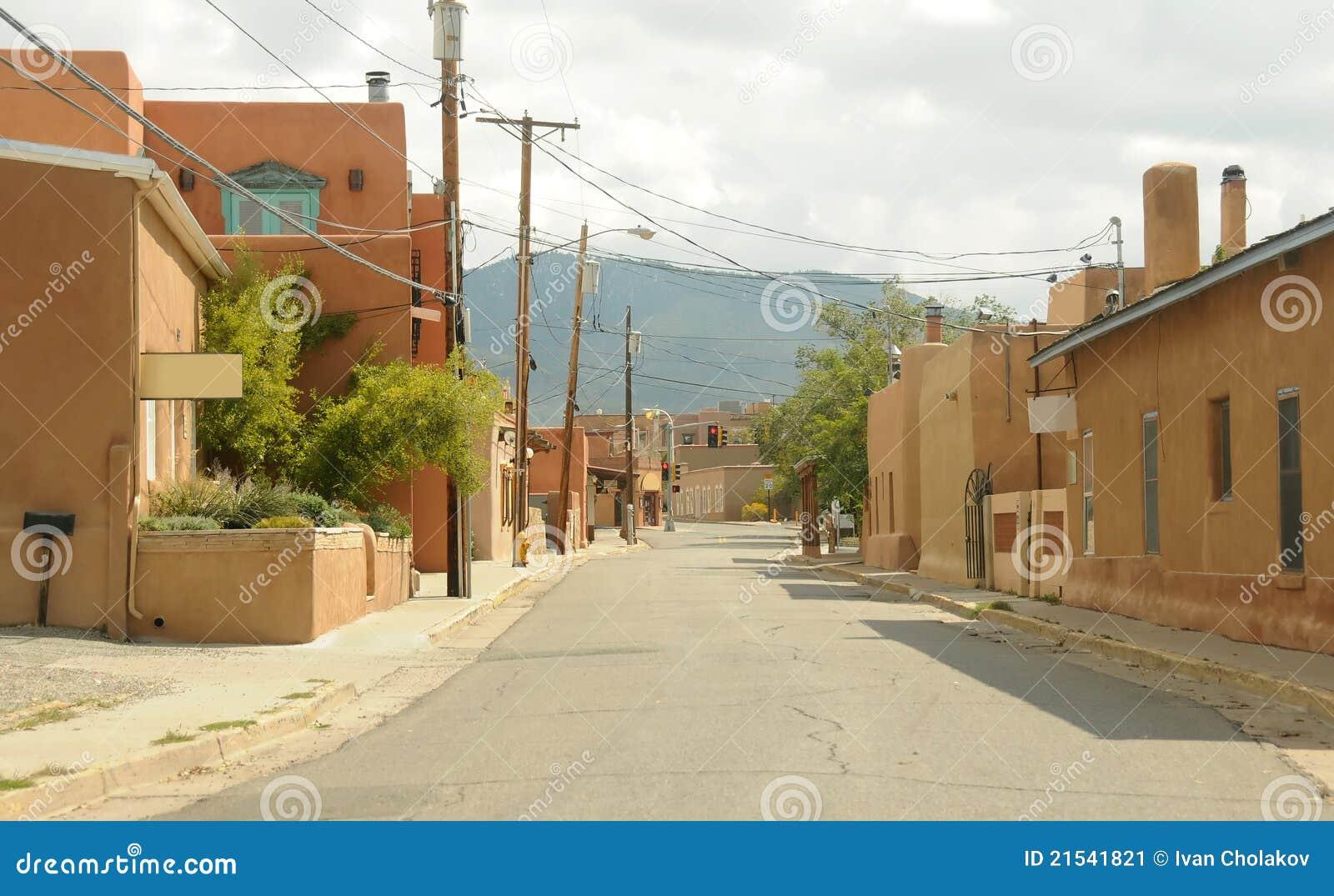 Old Town Santa Fe >> Old Town Santa Fe Stock Image Image Of Town City