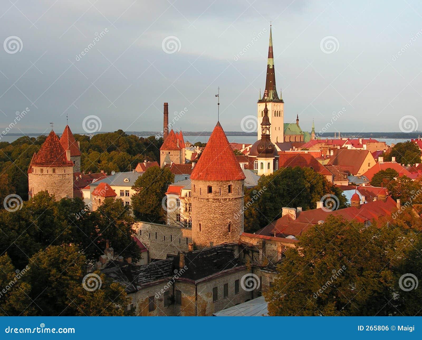 old town of tallinn estonia stock photo image of. Black Bedroom Furniture Sets. Home Design Ideas
