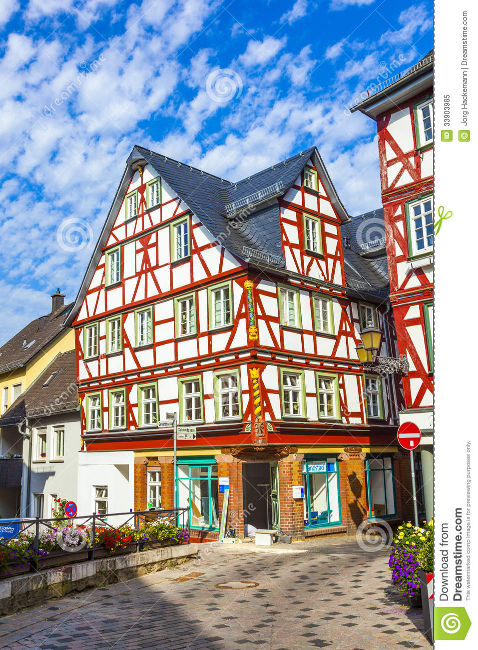 Old Town Of Wetzlar With Timbered Editorial Image Image