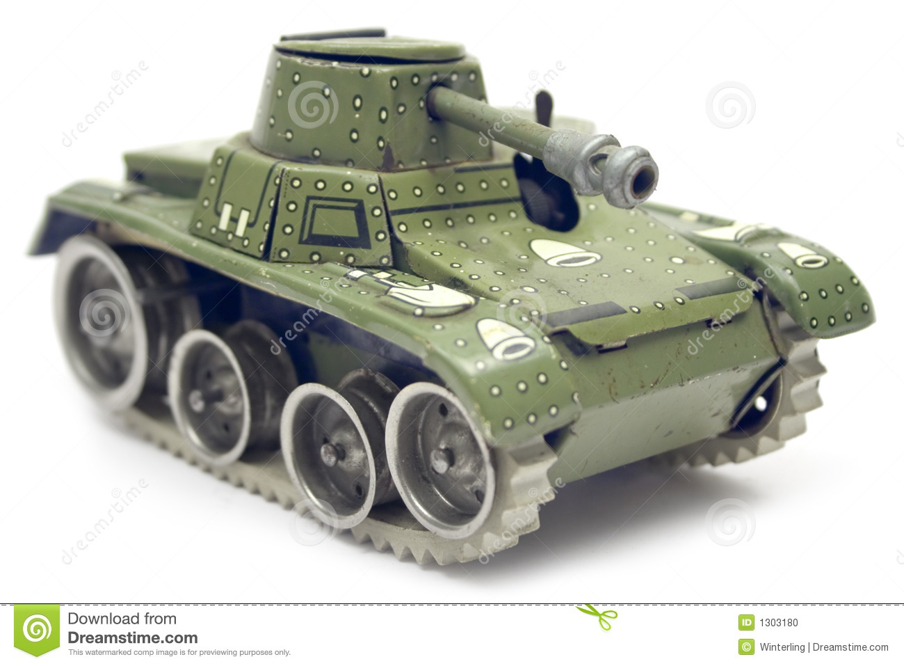 Old Toy Tank Stock Photo - Image: 1303180