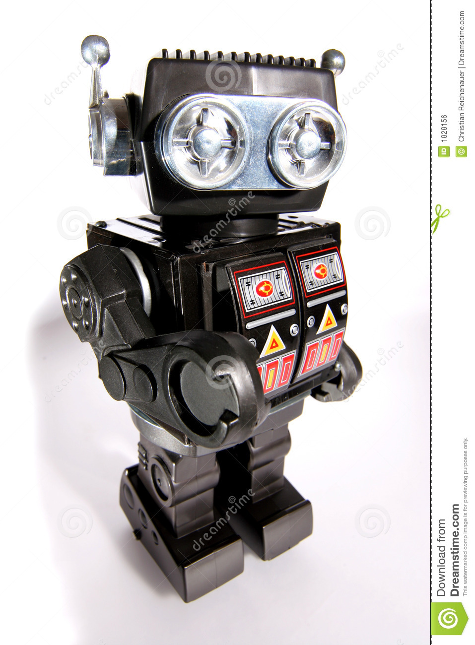 Old toy tin robot #2