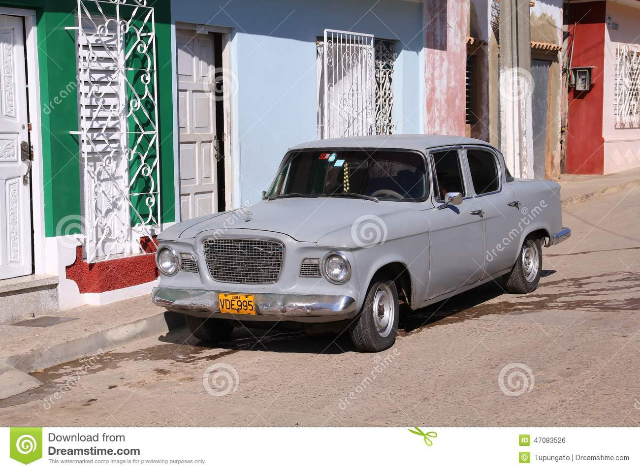 Old Toyota in Cuba editorial photo. Image of trinidad - 47083526