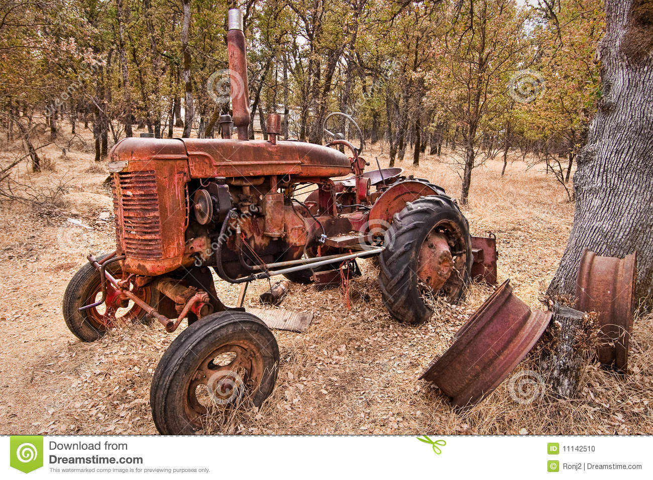 Oldest Antique Tractors : Old tractor stock photo image of rust tractors
