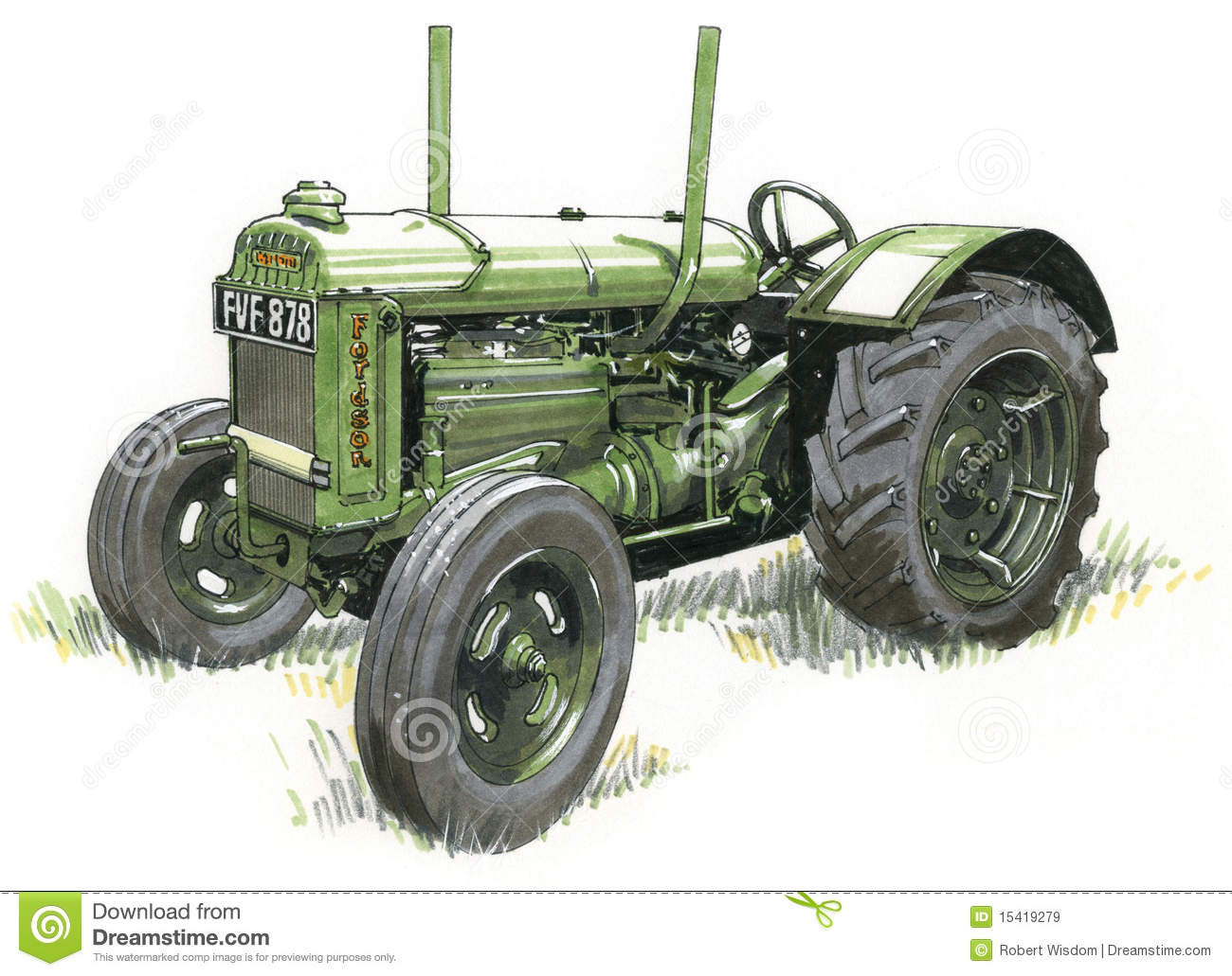 vintage tractor clipart - photo #49
