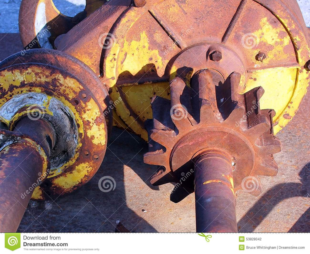 Old Tractor Transmission Gears : Old tractor gears stock photo image