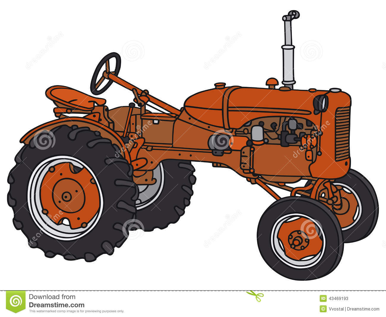 Old Tractor Clip Art : Old tractor stock vector illustration of transportation