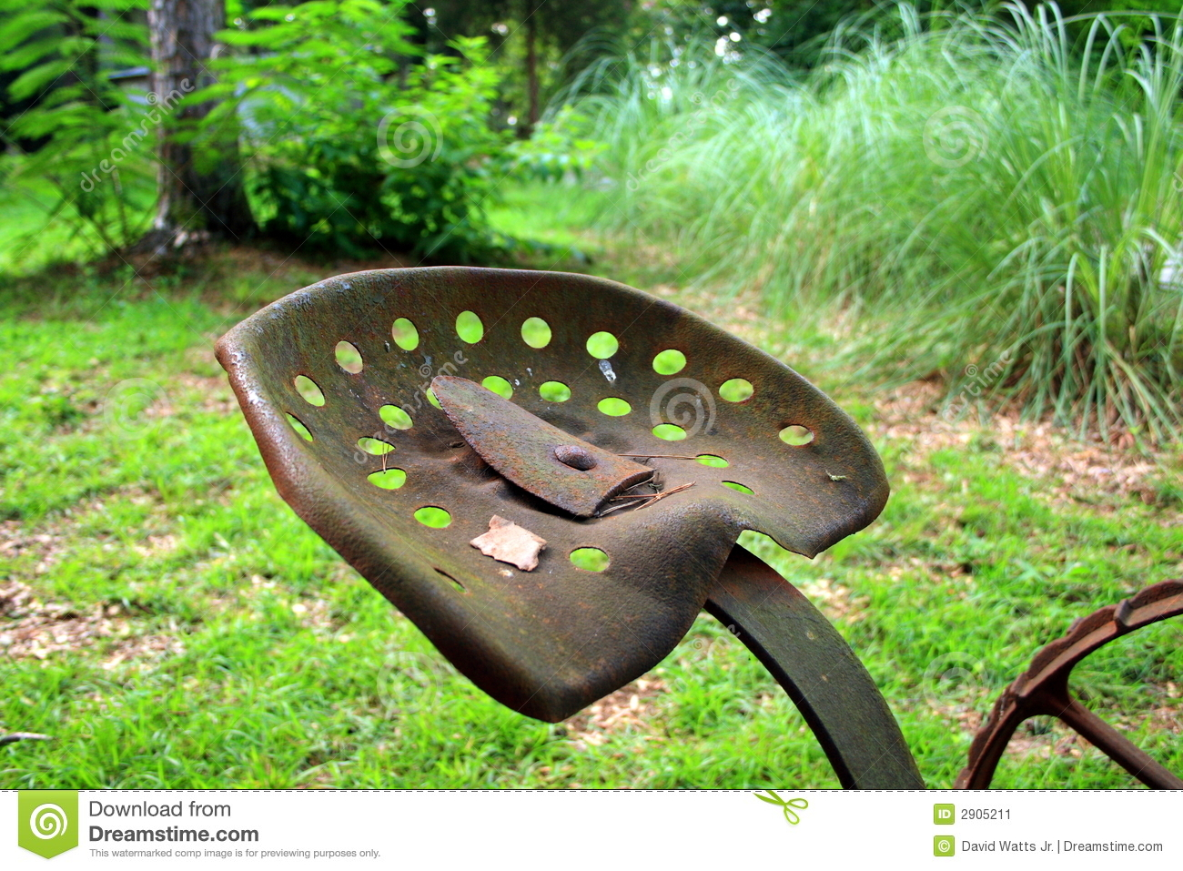 Old Tractor Seat Stock Image Image 2905211