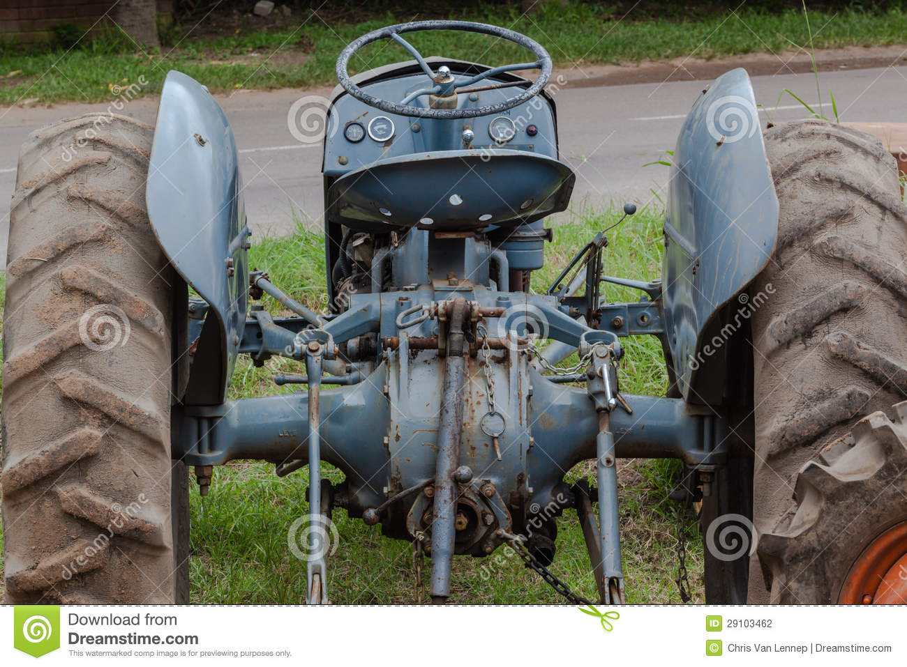 Old Time Tractor Seats : Old tractor seat wheel stock photography image