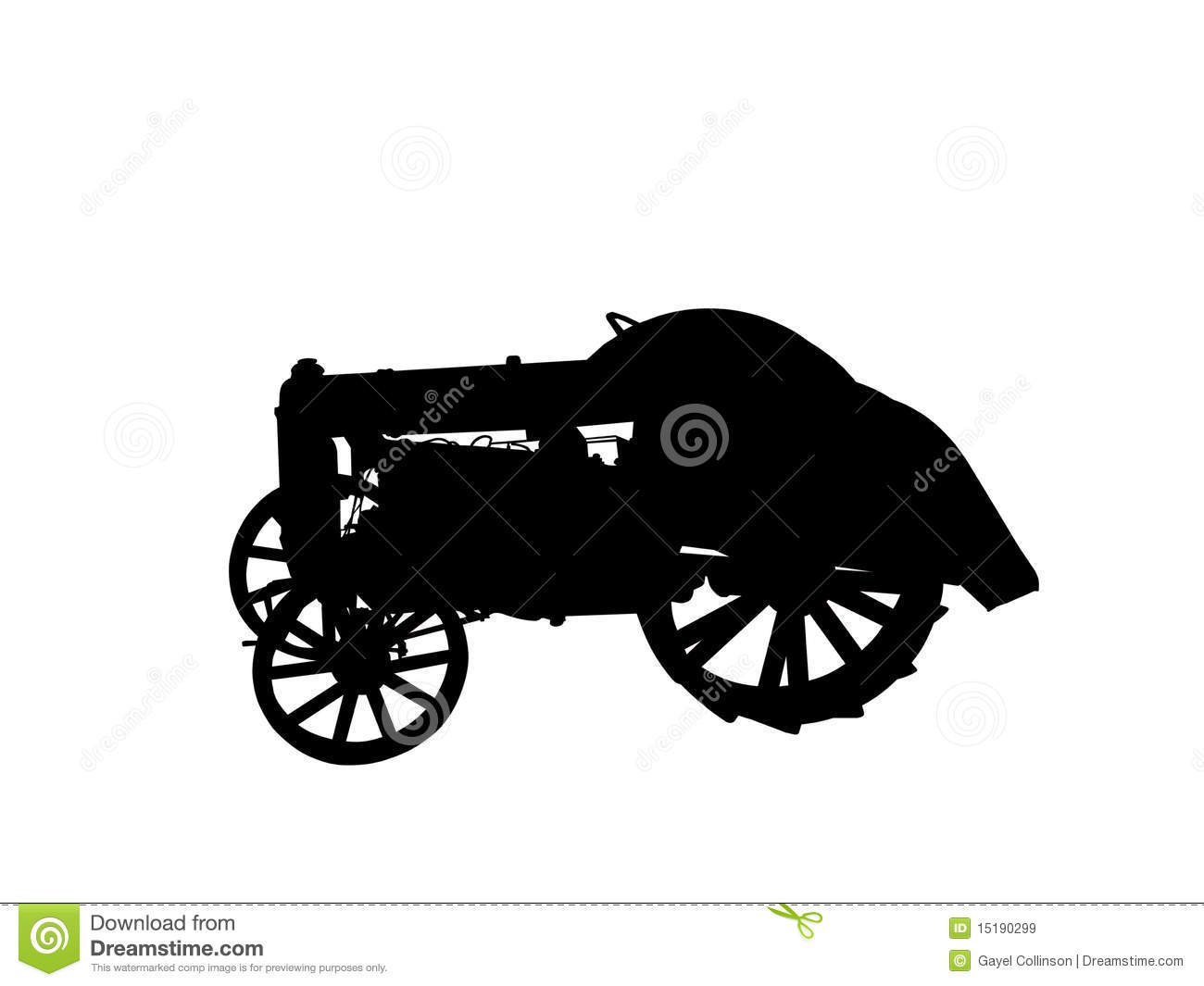 Antique Tractor Silhouette : Old tractor in silhouette royalty free stock images