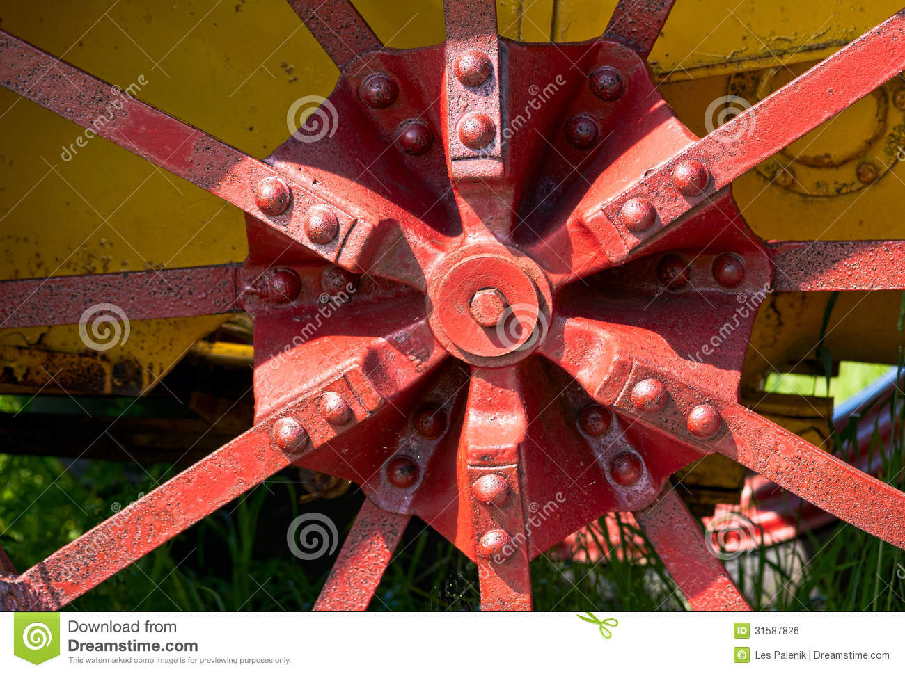 Tractor Wheel Person : Old tractor wheel royalty free stock image