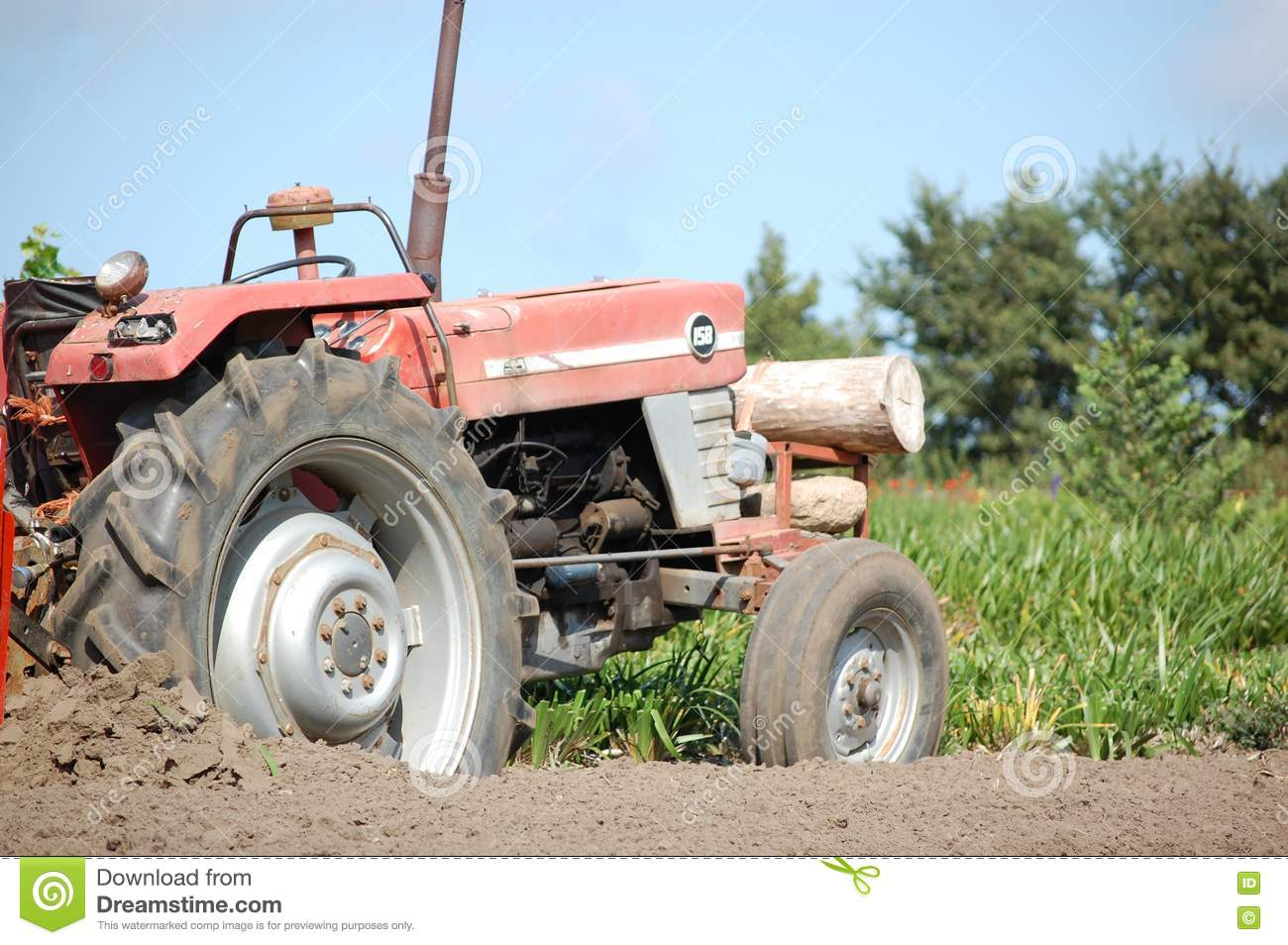 Old Tractor at work