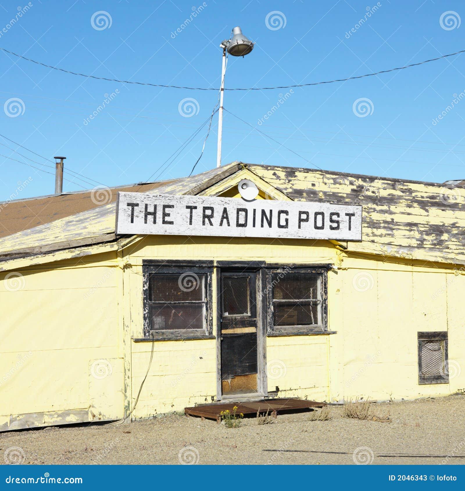 Old Trading Post In Desert Stock Photos
