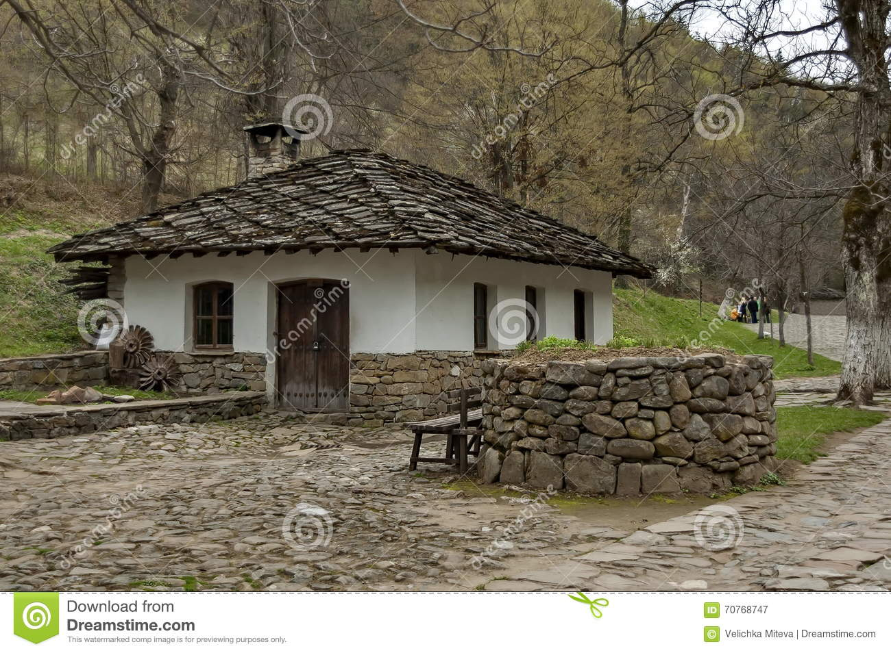 old traditional houses in etar editorial photography