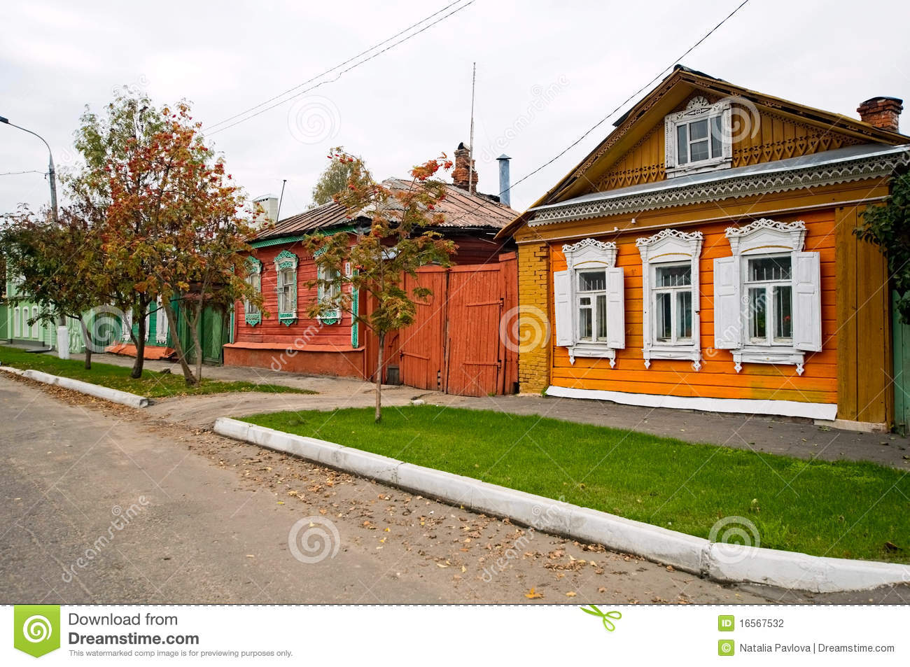 Old traditional houses in russian village stock photo for Old traditional houses
