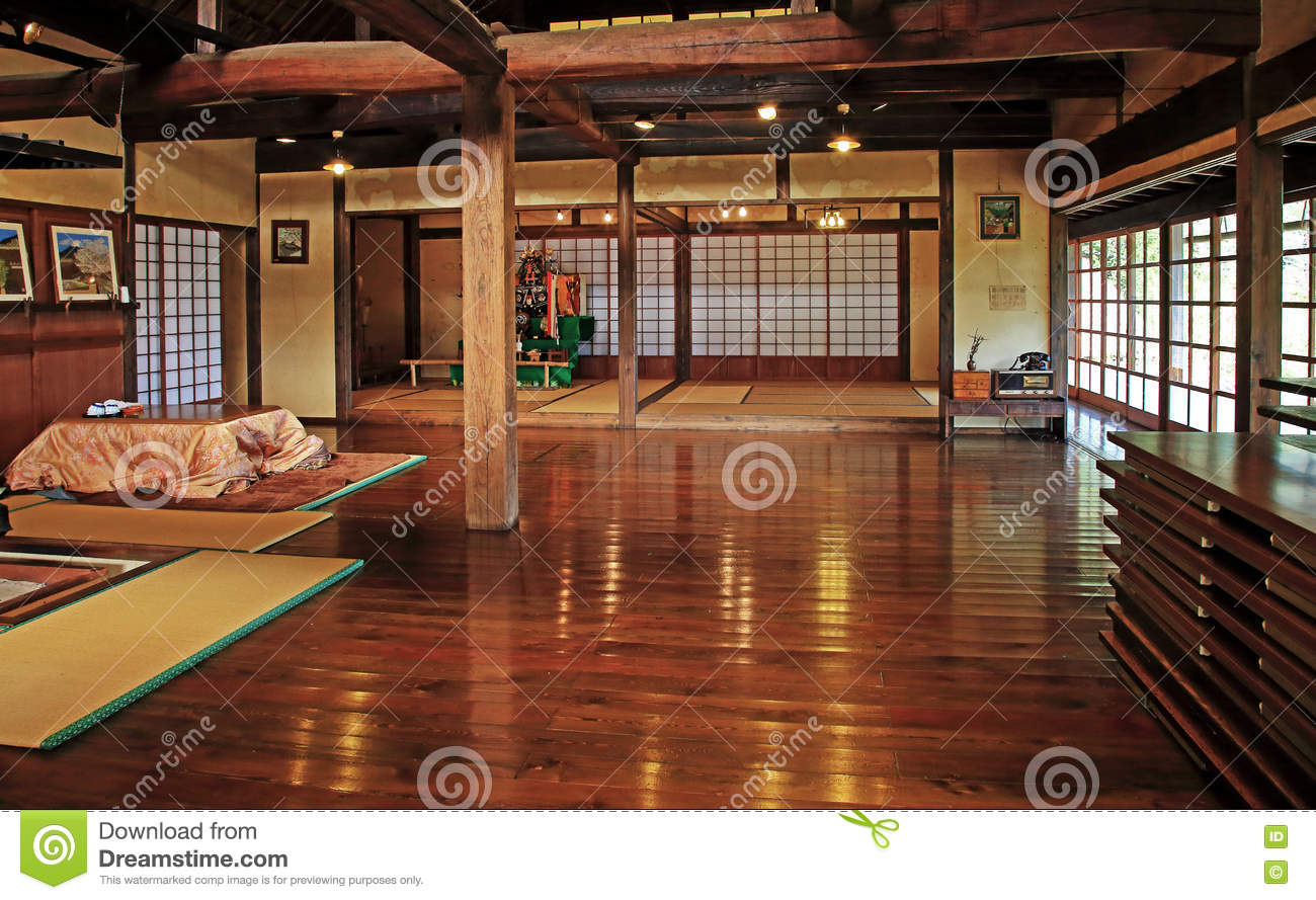Old Traditional Japanese House Interior Editorial Photo