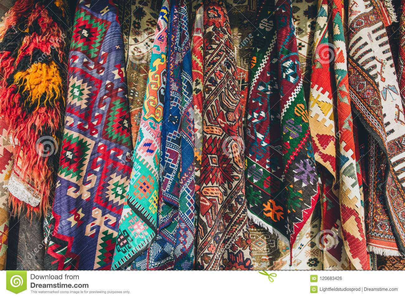 Download Old Traditional Turkish Carpet Shop Stock Photo