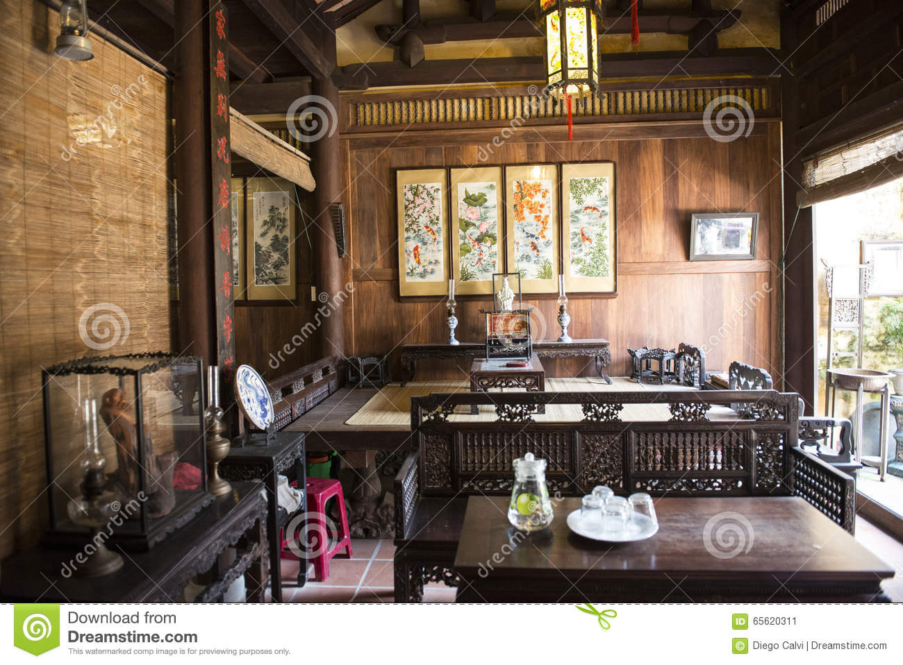 old traditional vietnamese wooden house hoian vietnam