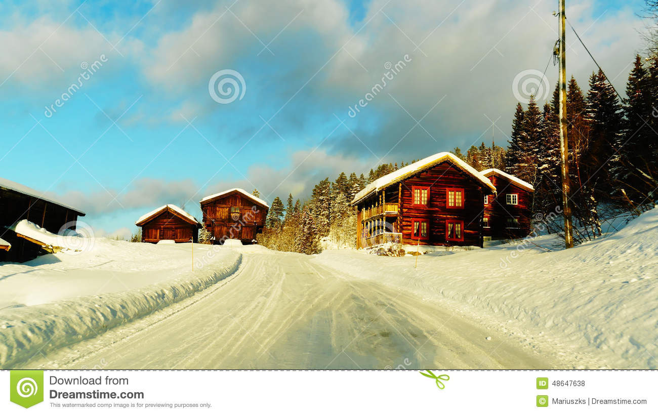 Old Traditional Wooden Farm Buildings Stock Photo - Image of