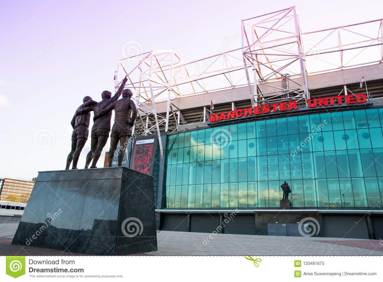 old trafford stadium home of manchester united editorial image image of football trinity 120481675 https www dreamstime com old trafford stadium home manchester united united trinity statue front old trafford stadium manchester united image120481675