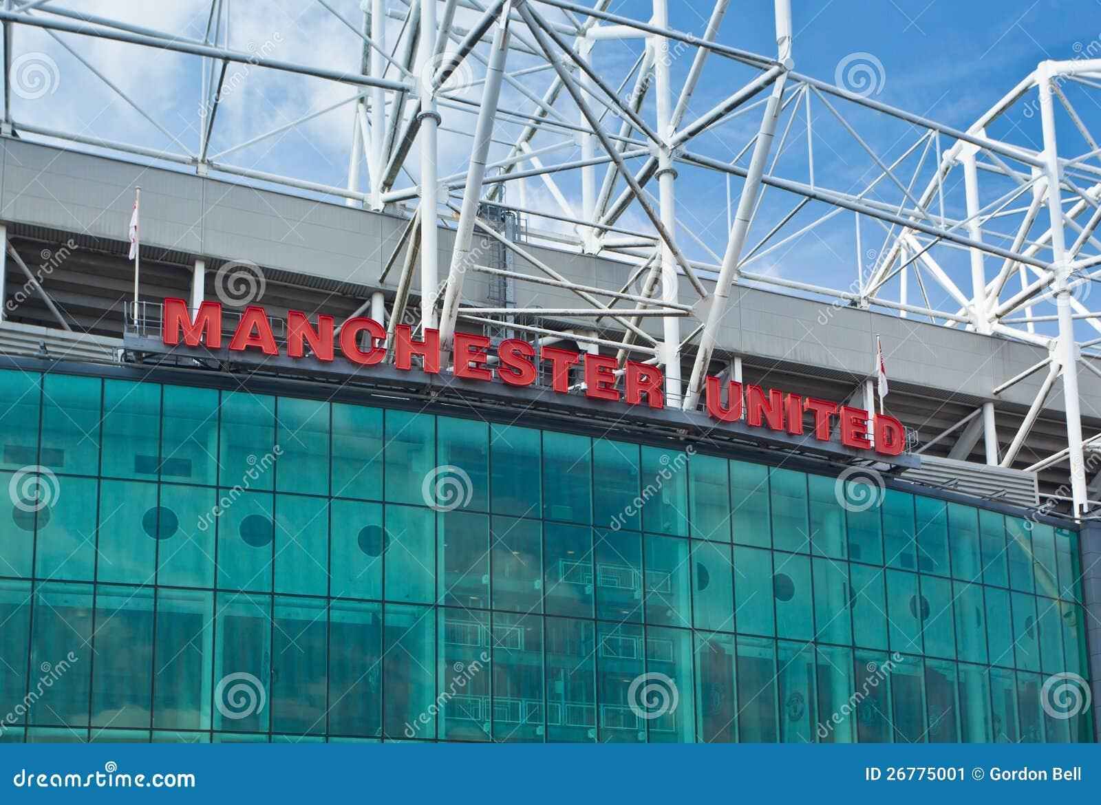 Old trafford stadium manchester united editorial photo image