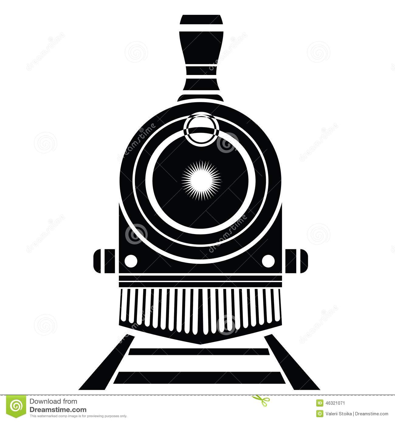 Vintage Steam Train Illustration - Shutterstock